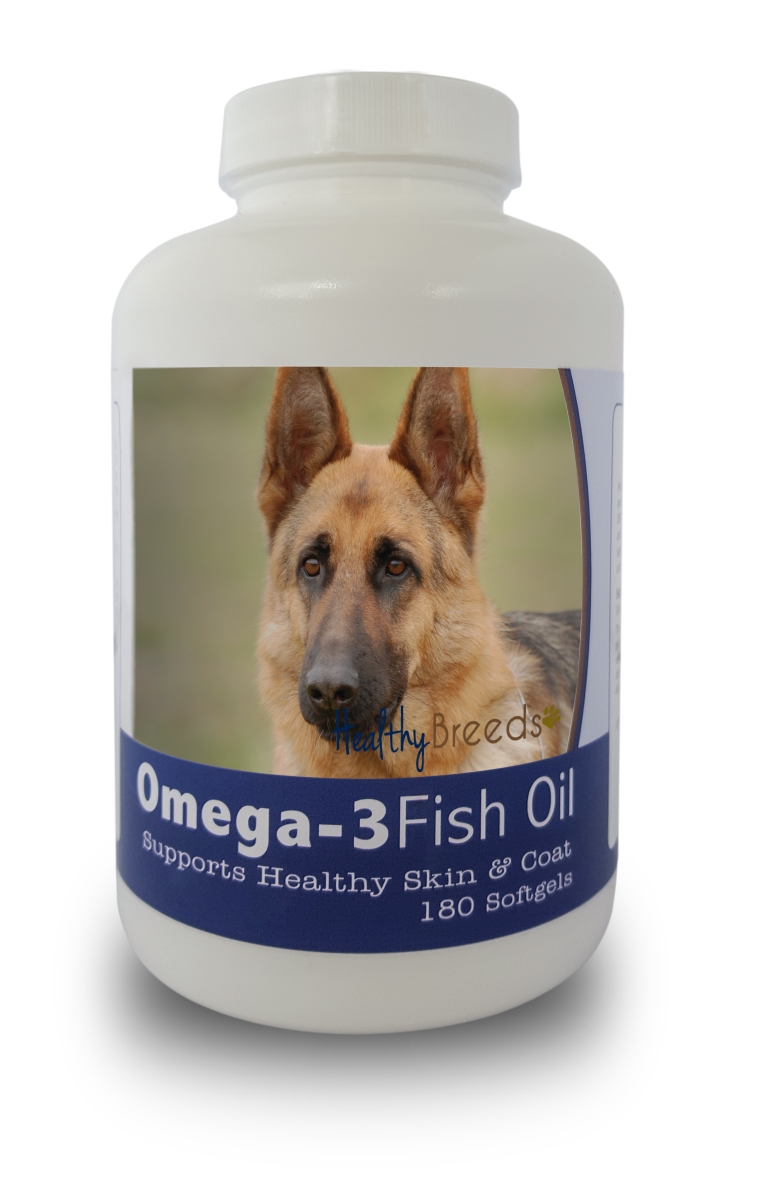 Healthy Breeds 840235141471 German Shepherd Omega-3 Fish Oil Softgels 180 Count