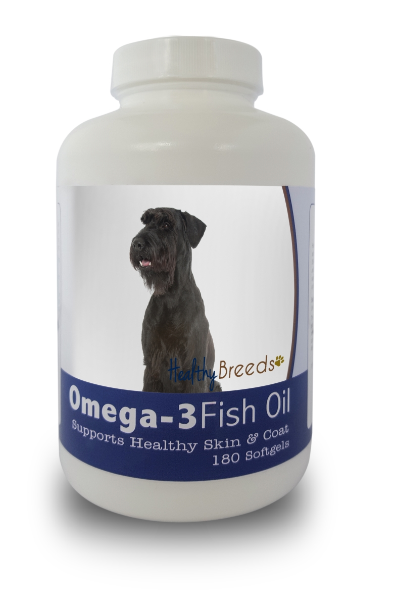 Healthy Breeds 840235141525 Giant Schnauzer Omega-3 Fish Oil Softgels 180 Count