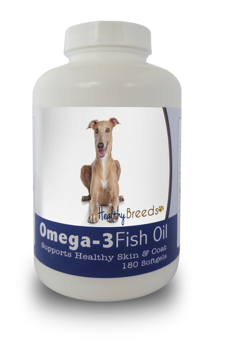 Healthy Breeds 840235141556 Italian Greyhound Omega-3 Fish Oil Softgels 180 Count