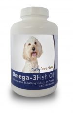 Healthy Breeds 840235141631 Labradoodle Omega-3 Fish Oil Softgels 180 Count