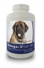 Healthy Breeds 840235141686 Mastiff Omega-3 Fish Oil Softgels 180 Count