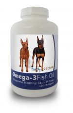 Healthy Breeds 840235141693 Miniature Pinscher Omega-3 Fish Oil Softgels 180 Count