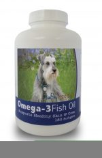 Healthy Breeds 840235141716 Miniature Schnauzer Omega-3 Fish Oil Softgels 180 Count
