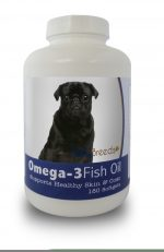 Healthy Breeds 840235141860 Pug Omega-3 Fish Oil Softgels 180 Count
