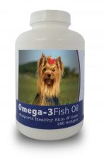 Healthy Breeds 840235142126 Yorkshire Terrier Omega-3 Fish Oil Softgels 180 count