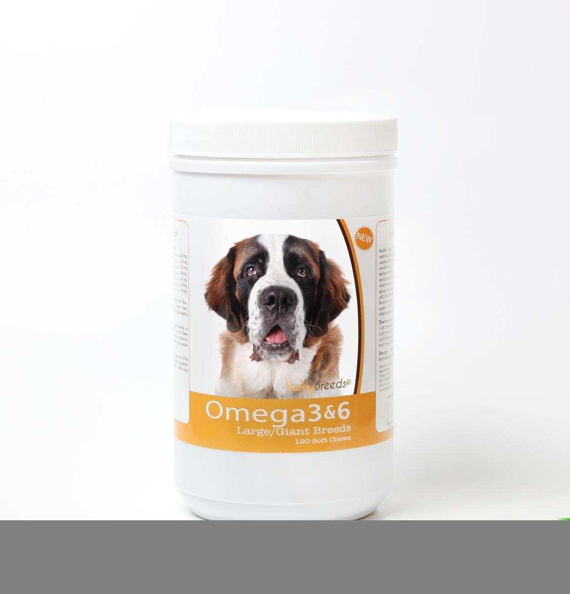 Healthy Breeds 840235143512 Saint Bernard Omega 3 & 6 Soft Chews - 120 Count