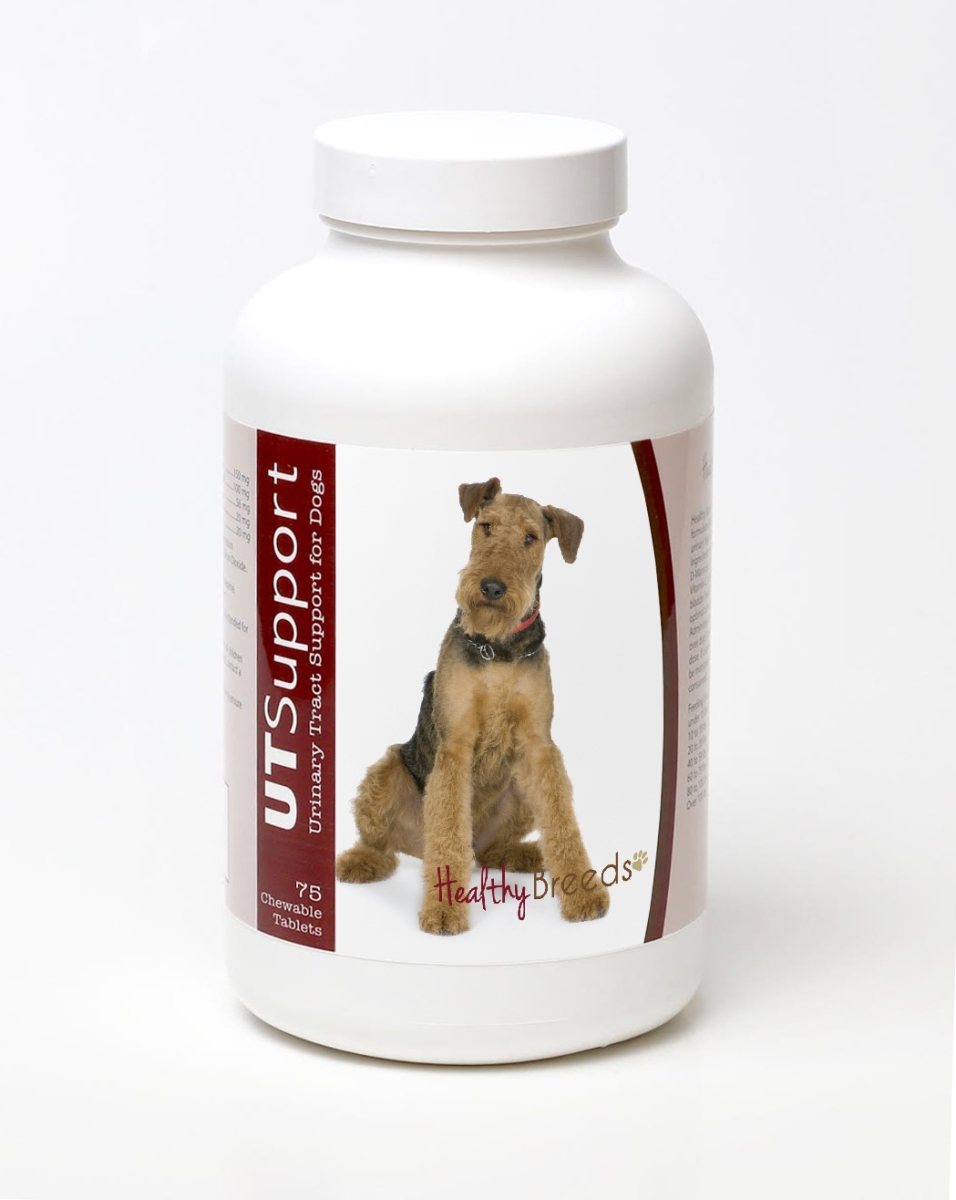 Healthy Breeds 840235144380 Airedale Terrier Cranberry Chewables - 75 Count