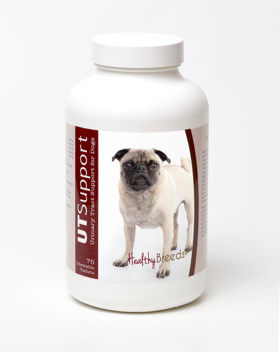 Healthy Breeds 840235144489 Pug Cranberry Chewables - 75 Count