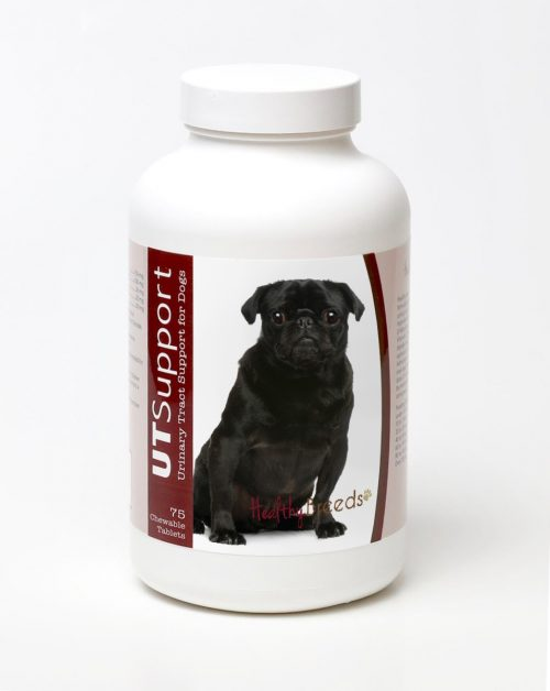 Healthy Breeds 840235144526 Pug Cranberry Chewables - 75 Count