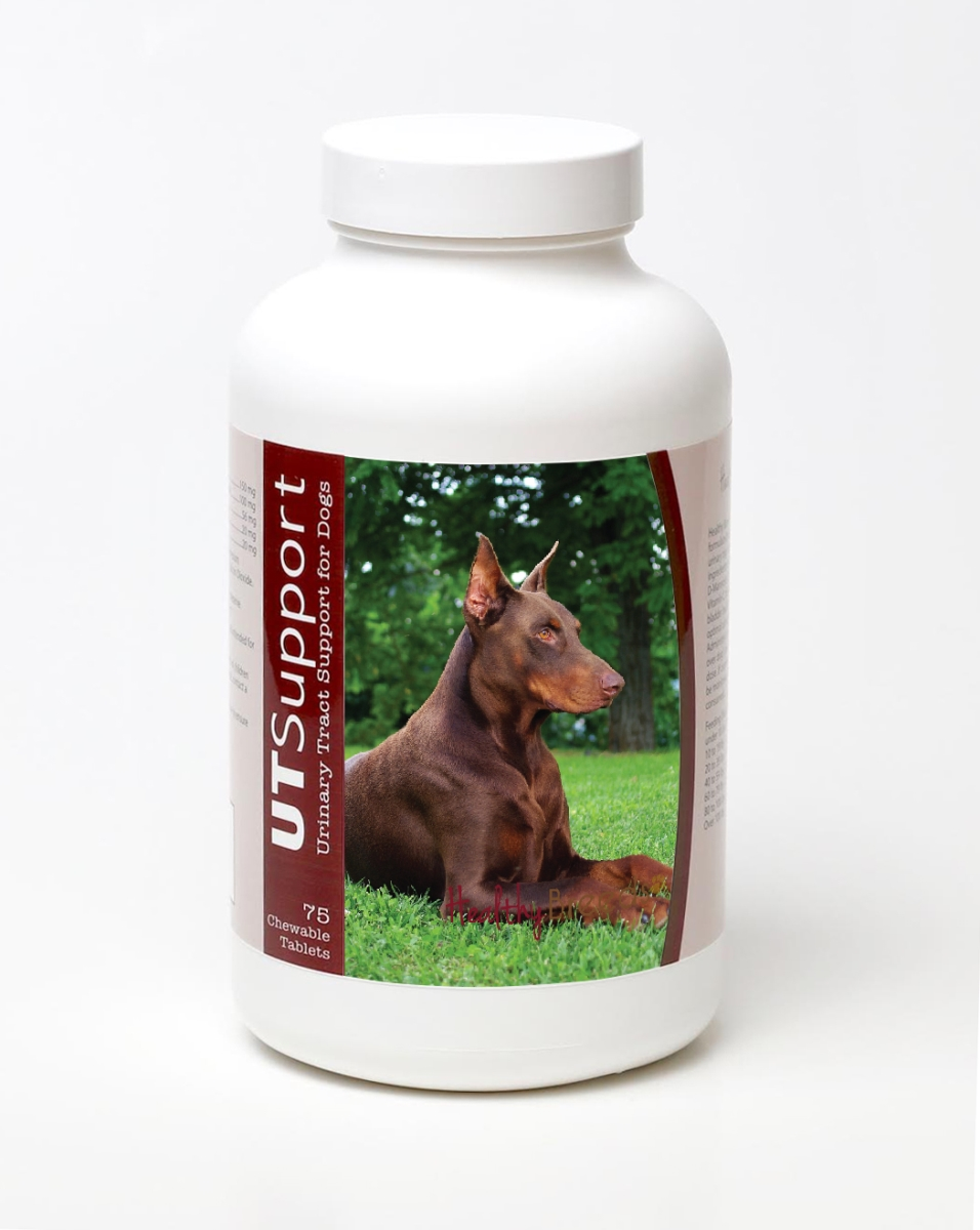 Healthy Breeds 840235144533 Doberman Pinscher Cranberry Chewables - 75 Count