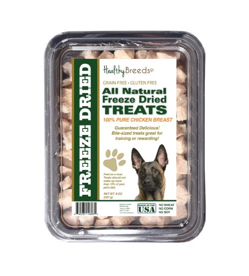 Healthy Breeds 840235146032 8 oz Belgian Malinois All Natural Freeze Dried Treats Chicken Breast