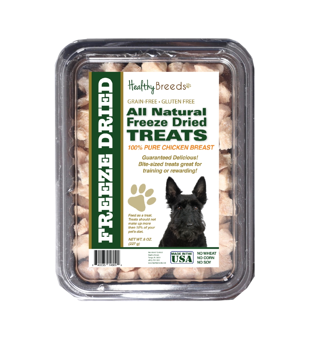 Healthy Breeds 840235146094 8 oz Scottish Terrier All Natural Freeze Dried Treats Chicken Breast