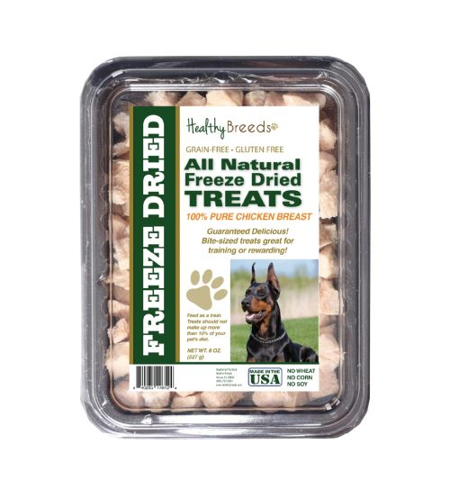 Healthy Breeds 840235146124 8 oz Doberman Pinscher All Natural Freeze Dried Treats Chicken Breast