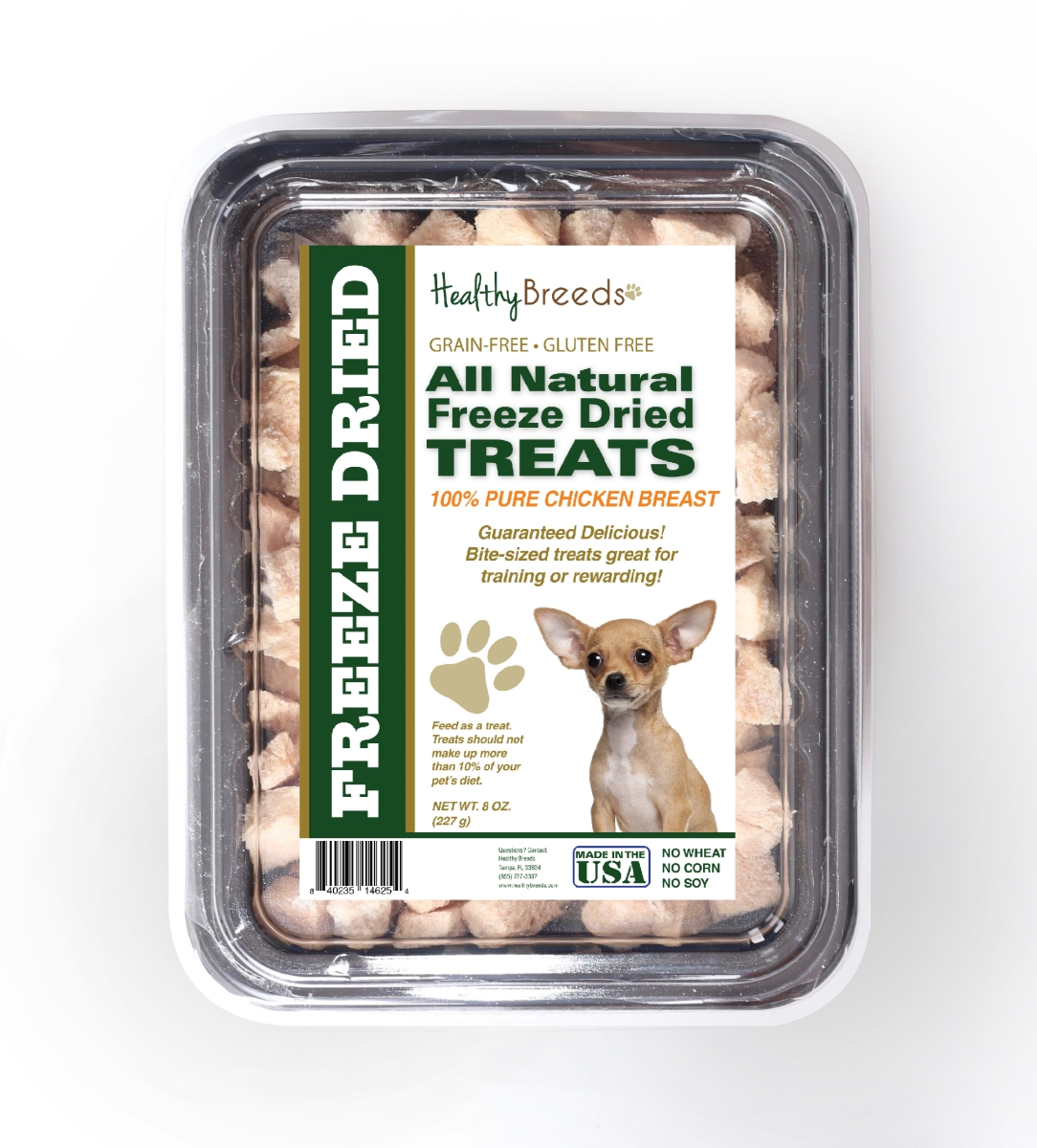 Healthy Breeds 840235146254 8 oz Chihuahua All Natural Freeze Dried Treats Chicken Breast