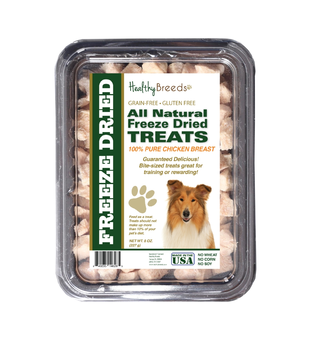 Healthy Breeds 840235146285 8 oz Collie All Natural Freeze Dried Treats Chicken Breast