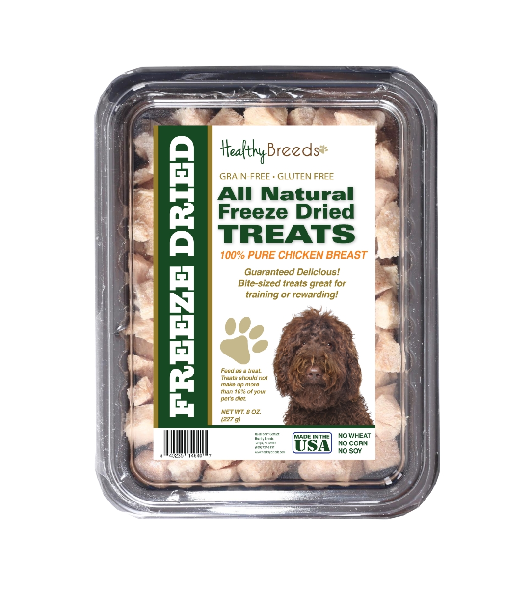 Healthy Breeds 840235146407 8 oz Labradoodle All Natural Freeze Dried Treats Chicken Breast