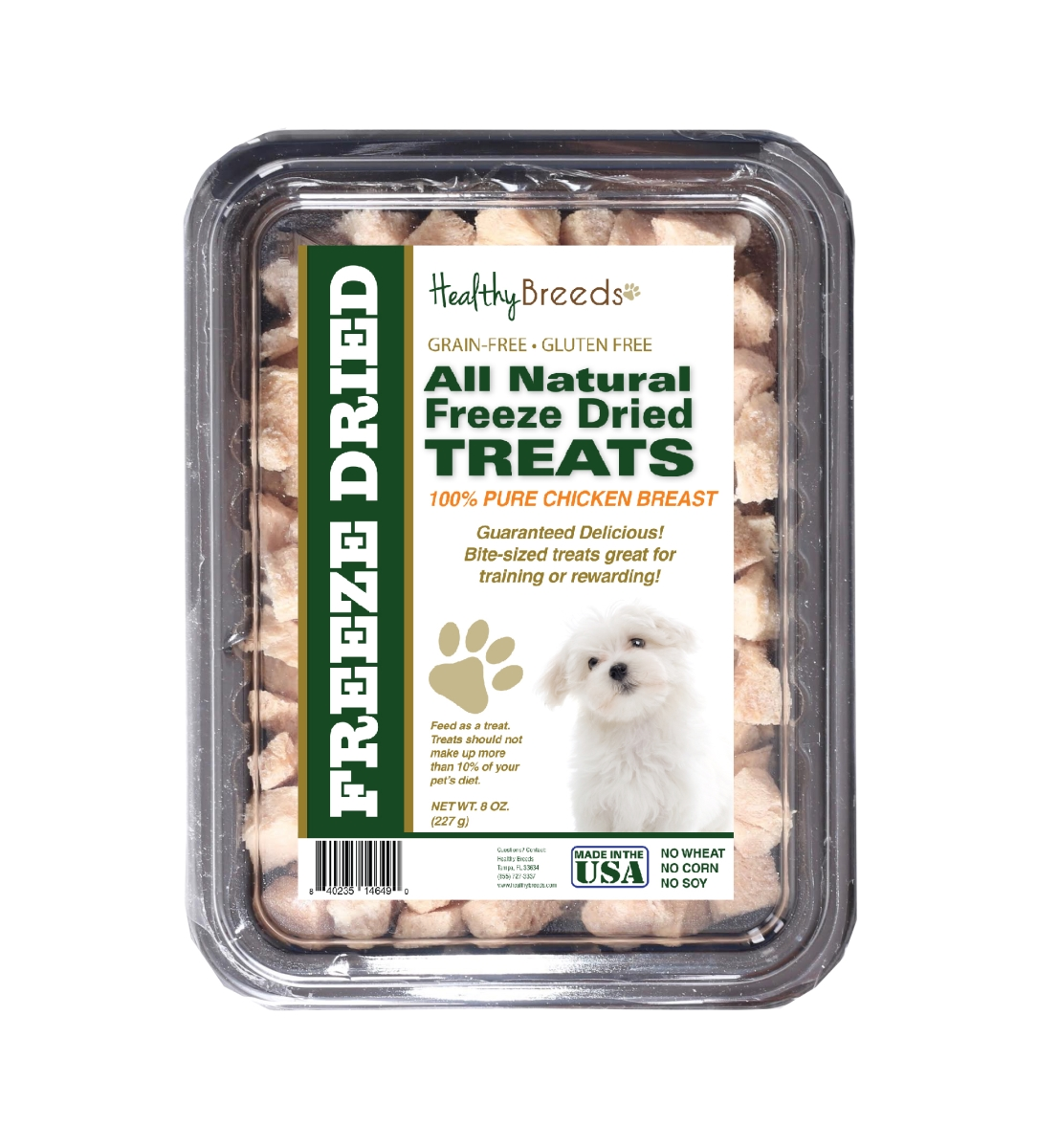 Healthy Breeds 840235146490 8 oz Maltese All Natural Freeze Dried Treats Chicken Breast