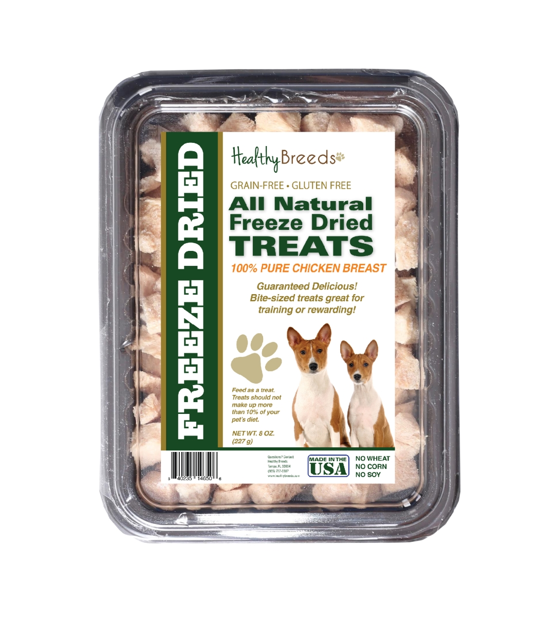 Healthy Breeds 840235146506 8 oz Basenji All Natural Freeze Dried Treats Chicken Breast