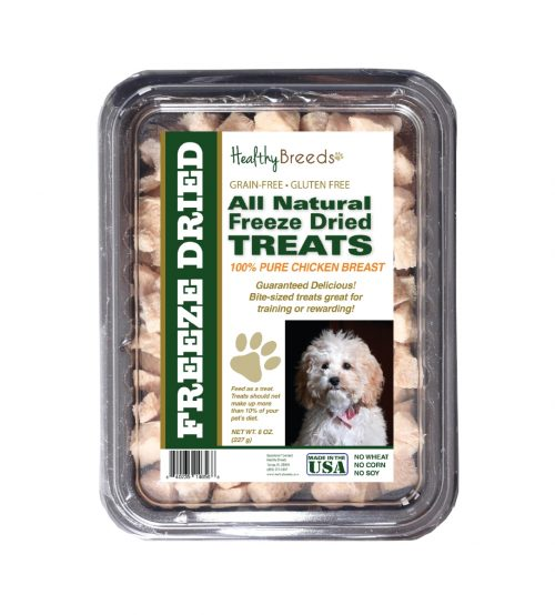 Healthy Breeds 840235146568 8 oz Cockapoo All Natural Freeze Dried Treats Chicken Breast