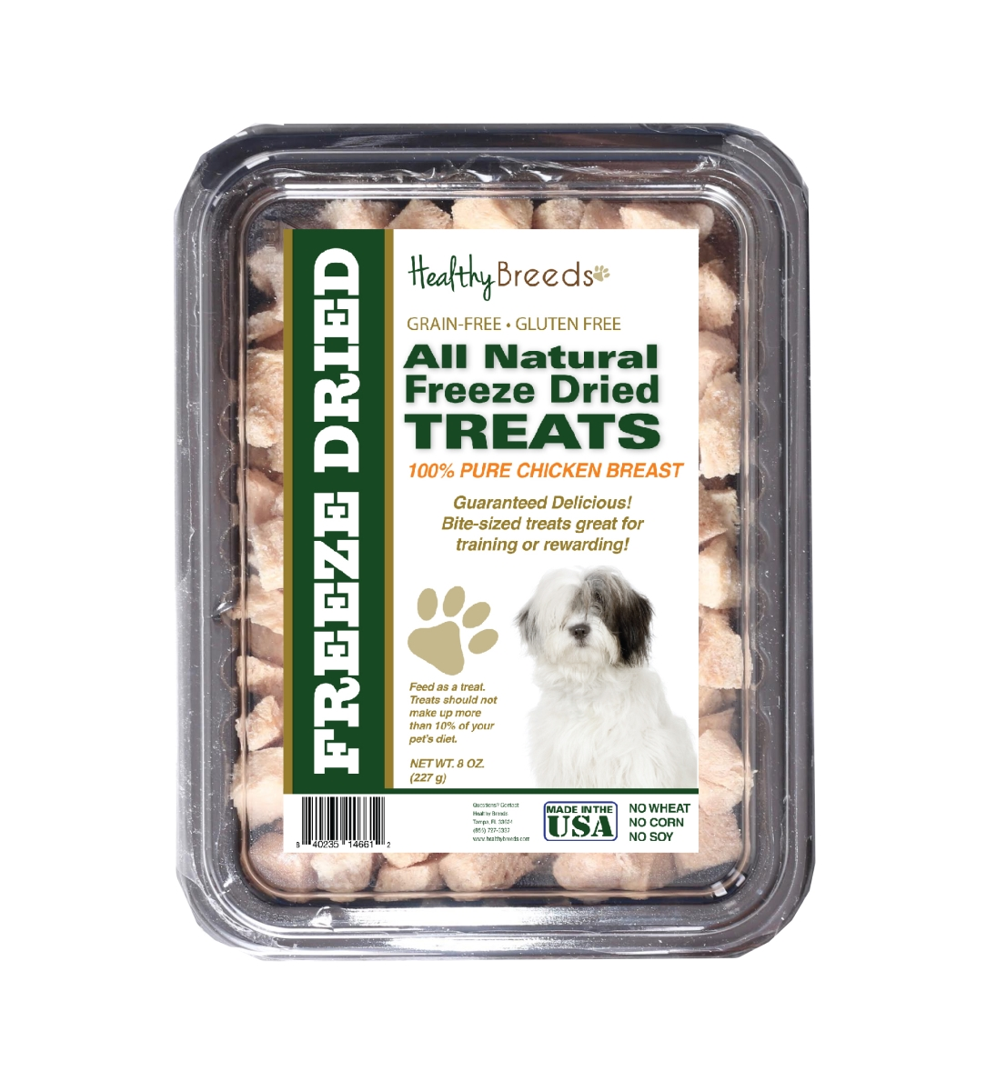 Healthy Breeds 840235146612 8 oz Old English Sheepdog All Natural Freeze Dried Treats Chicken Breast