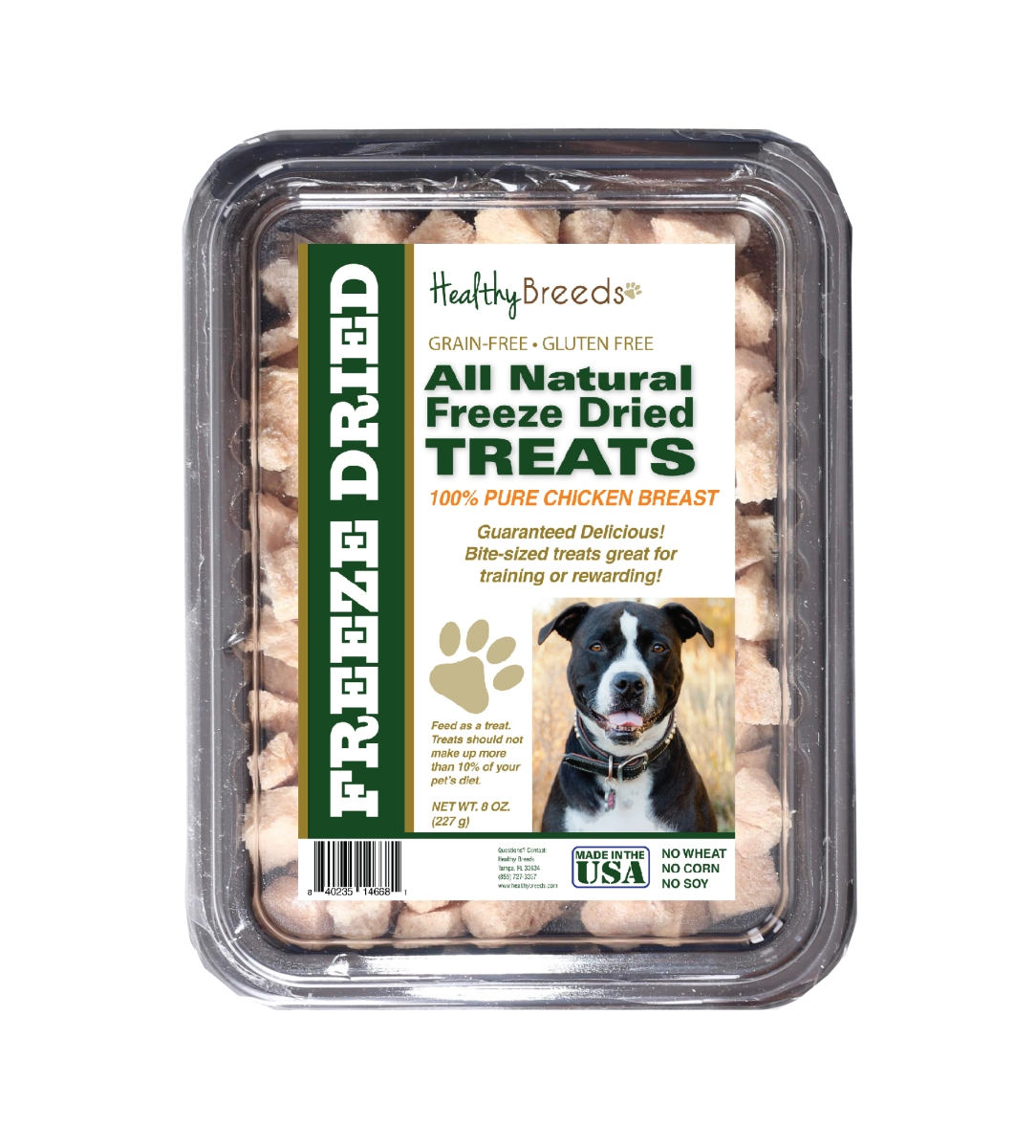 Healthy Breeds 840235146681 8 oz Pit Bull All Natural Freeze Dried Treats Chicken Breast