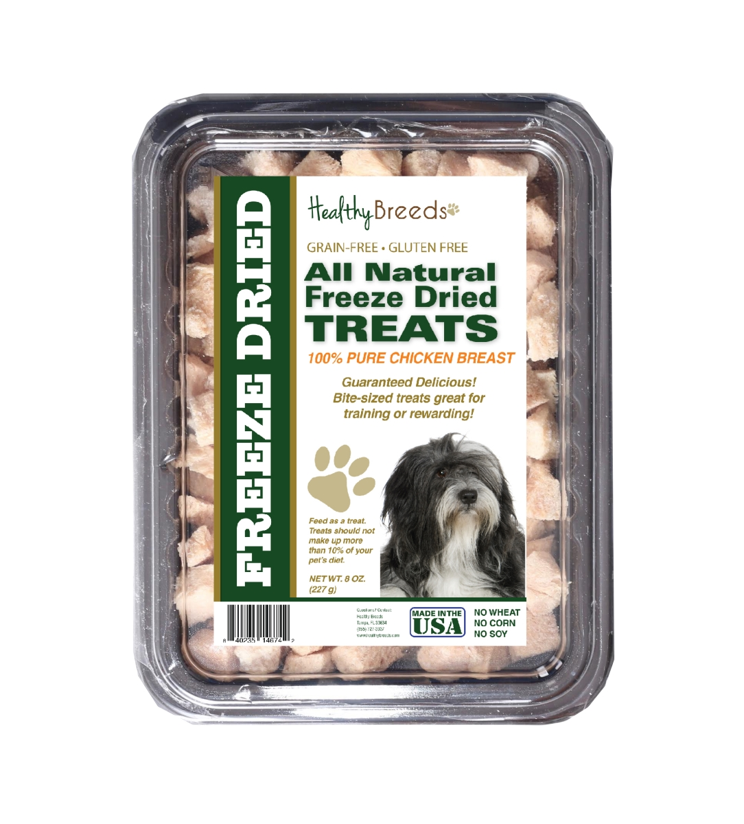 Healthy Breeds 840235146742 8 oz Lhasa Apso All Natural Freeze Dried Treats Chicken Breast