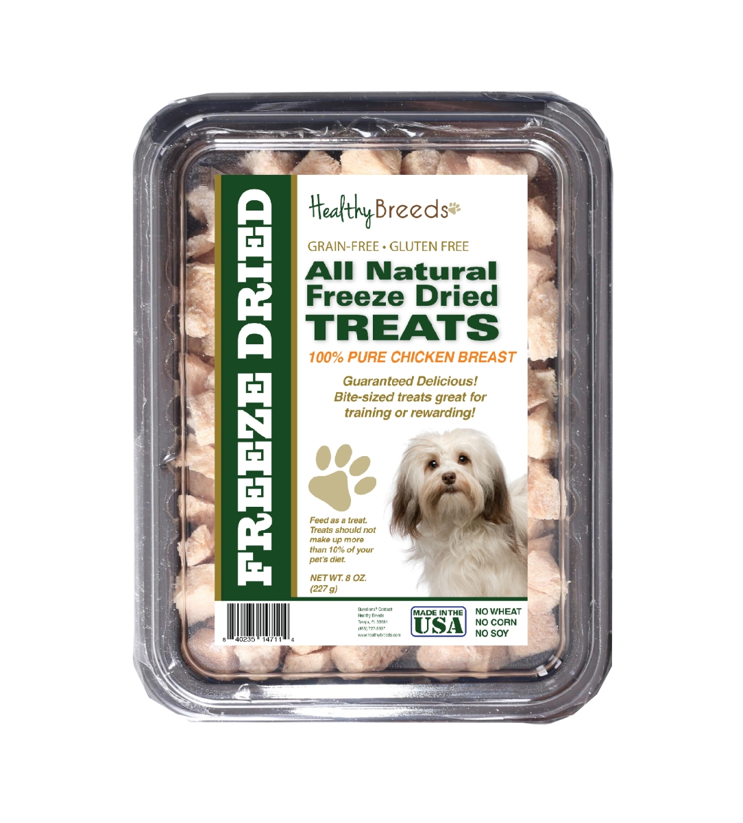Healthy Breeds 840235147114 8 oz Havanese All Natural Freeze Dried Treats Chicken Breast