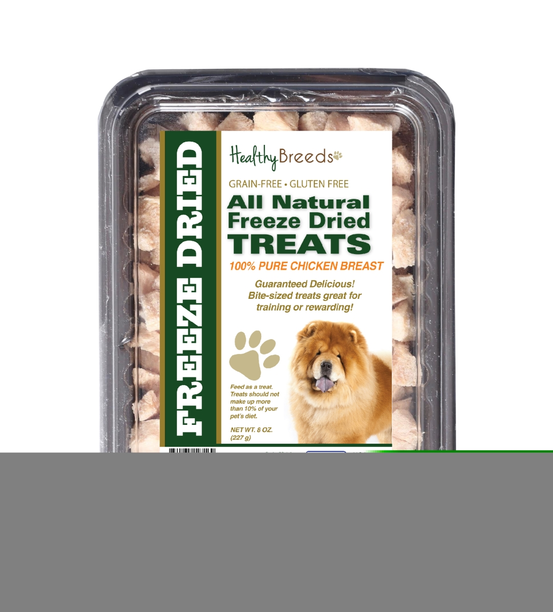 Healthy Breeds 840235147169 8 oz Chow Chow All Natural Freeze Dried Treats Chicken Breast