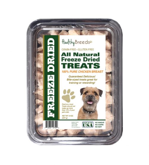 Healthy Breeds 840235147190 8 oz Border Terrier All Natural Freeze Dried Treats Chicken Breast