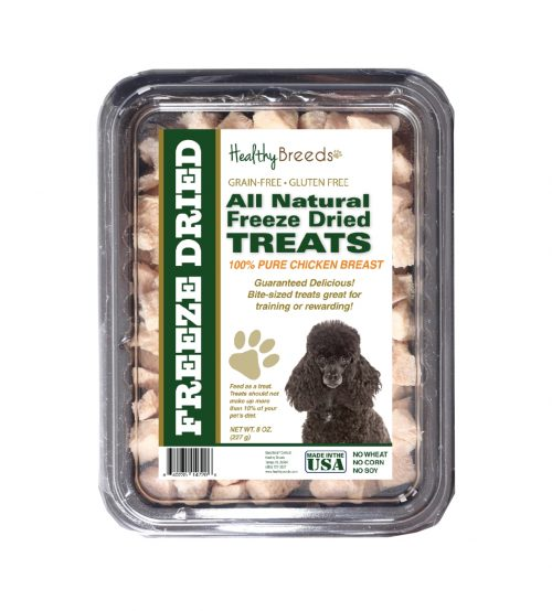 Healthy Breeds 840235147206 8 oz Poodle All Natural Freeze Dried Treats Chicken Breast