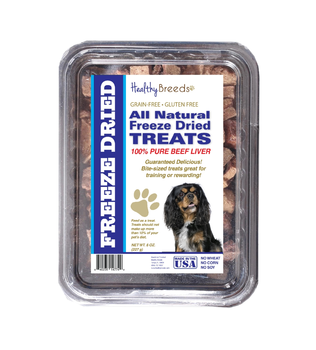 Healthy Breeds 840235147237 10 oz Cavalier King Charles Spaniel All Natural Freeze Dried Treats Beef Liver