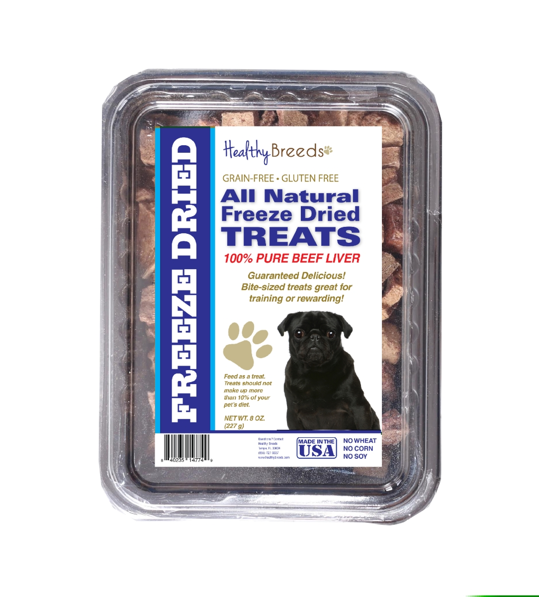 Healthy Breeds 840235147268 10 oz Pug All Natural Freeze Dried Treats Beef Liver