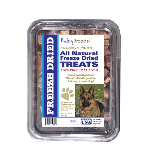 Healthy Breeds 840235147329 10 oz German Shepherd All Natural Freeze Dried Treats Beef Liver