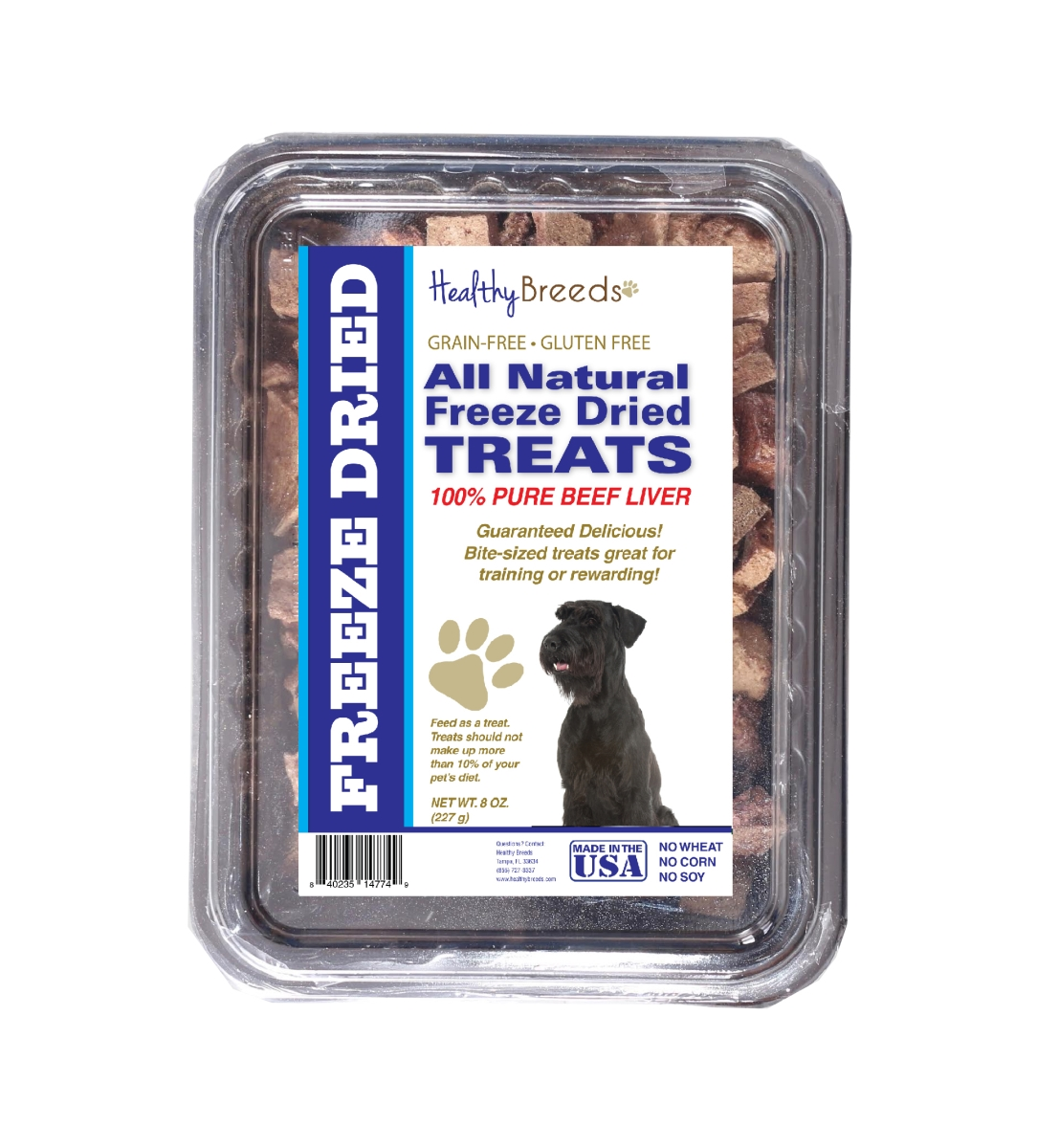 Healthy Breeds 840235147336 10 oz Giant Schnauzer All Natural Freeze Dried Treats Beef Liver
