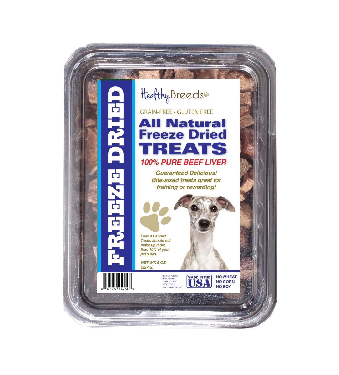 Healthy Breeds 840235147367 10 oz Whippet All Natural Freeze Dried Treats Beef Liver