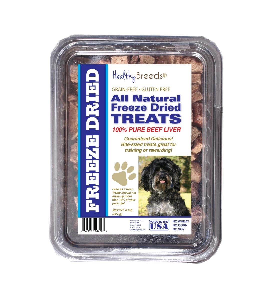 Healthy Breeds 840235147381 10 oz Maltipoo All Natural Freeze Dried Treats Beef Liver