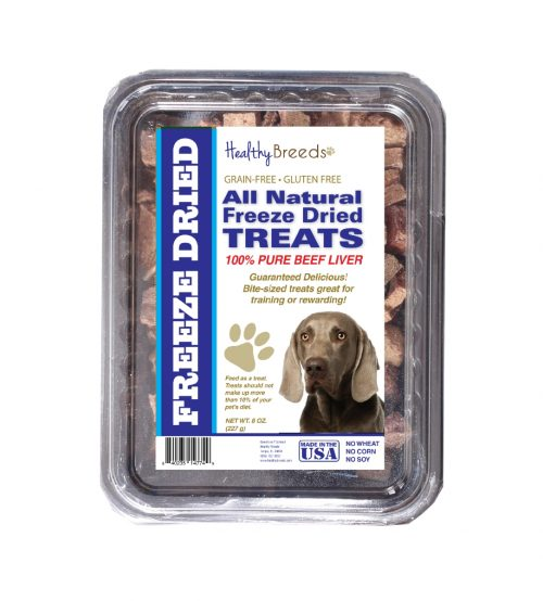 Healthy Breeds 840235147480 10 oz Weimaraner All Natural Freeze Dried Treats Beef Liver