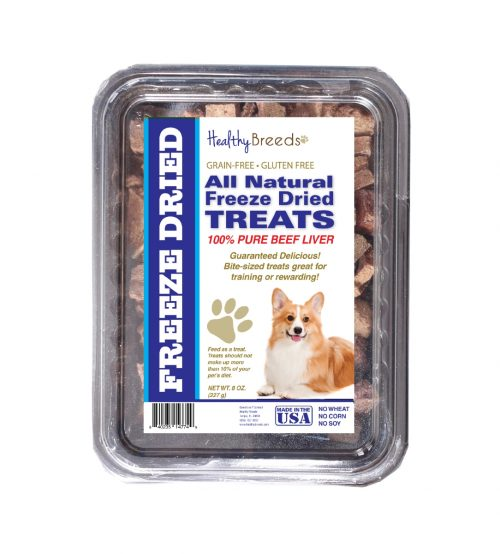 Healthy Breeds 840235147534 10 oz Pembroke Welsh Corgi All Natural Freeze Dried Treats Beef Liver