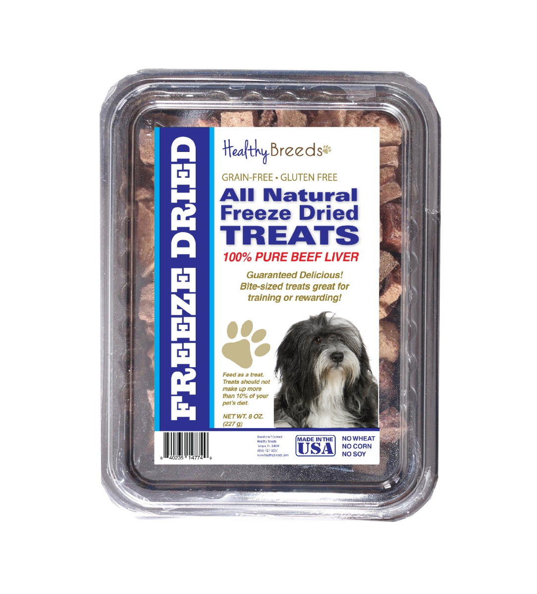 Healthy Breeds 840235147565 10 oz Lhasa Apso All Natural Freeze Dried Treats Beef Liver