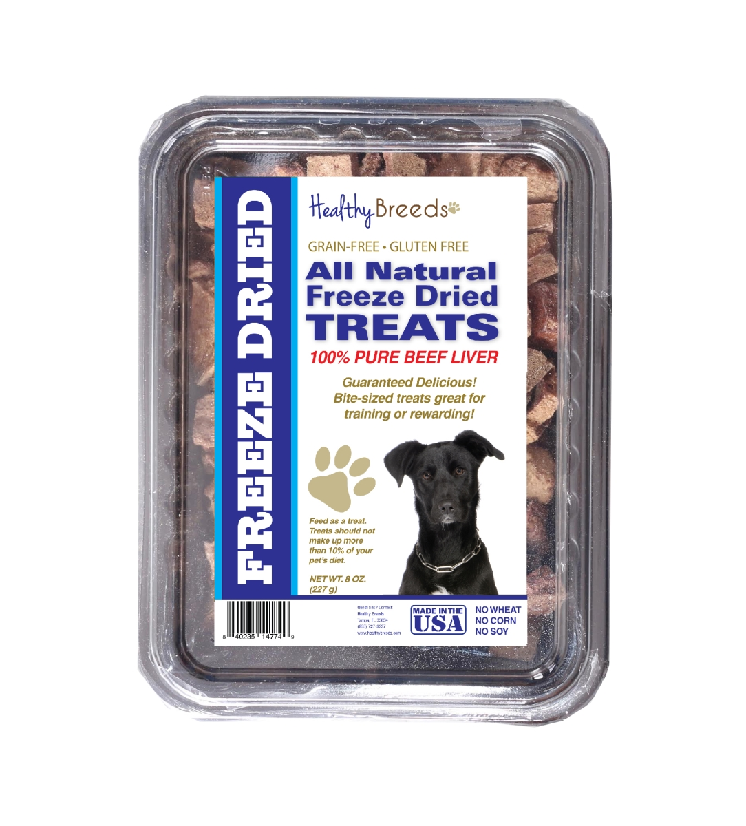 Healthy Breeds 840235147572 10 oz Mutt All Natural Freeze Dried Treats Beef Liver