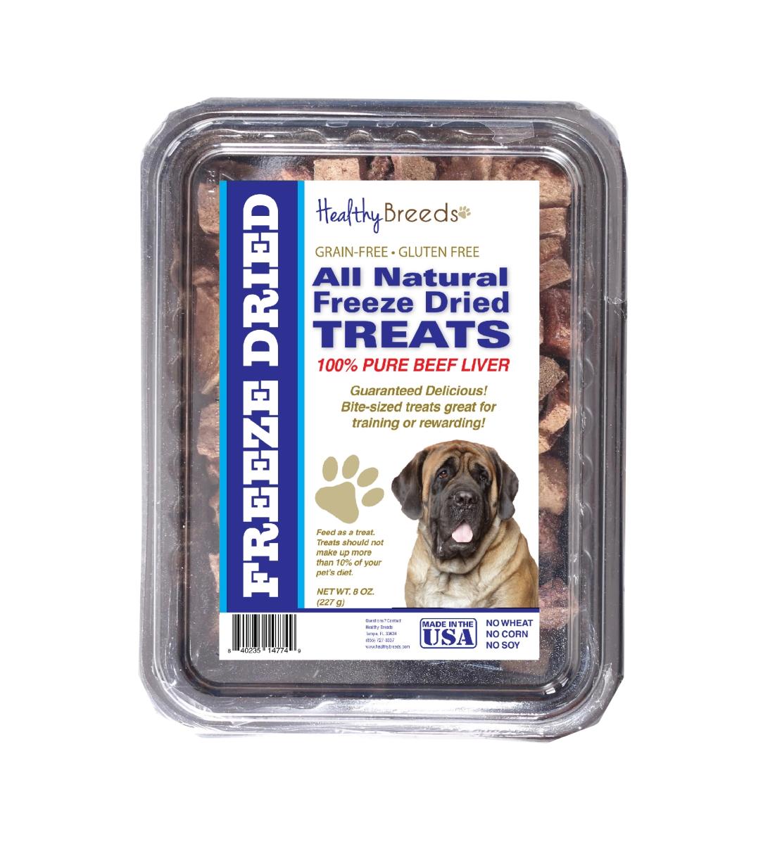 Healthy Breeds 840235147589 10 oz Mastiff All Natural Freeze Dried Treats Beef Liver