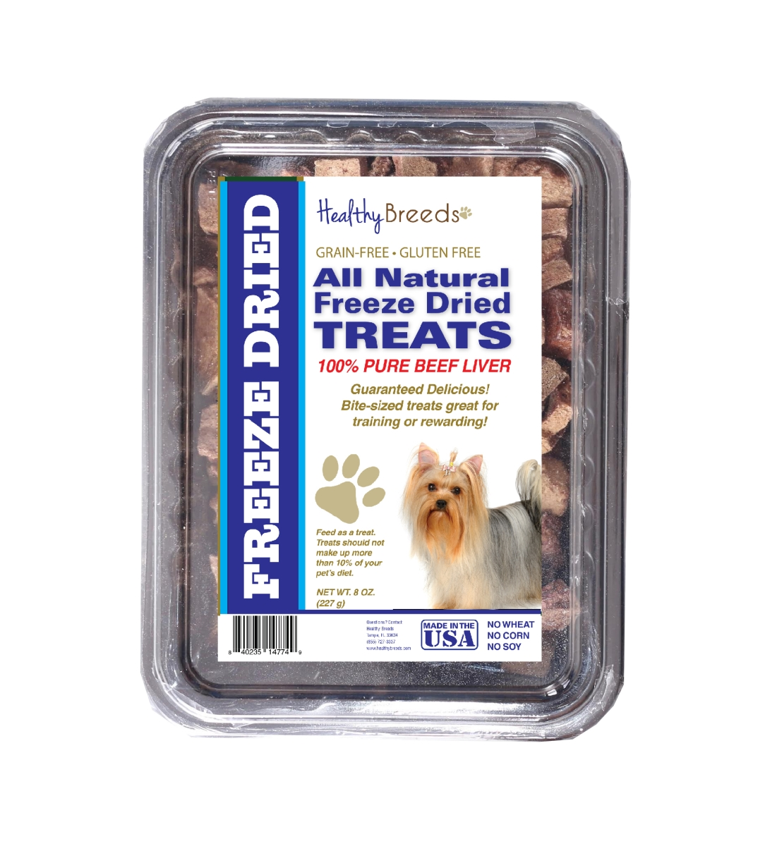 Healthy Breeds 840235147619 10 oz Yorkshire Terrier All Natural Freeze Dried Treats Beef Liver