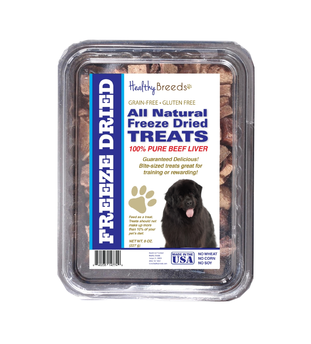 Healthy Breeds 840235147626 10 oz Newfoundland All Natural Freeze Dried Treats Beef Liver