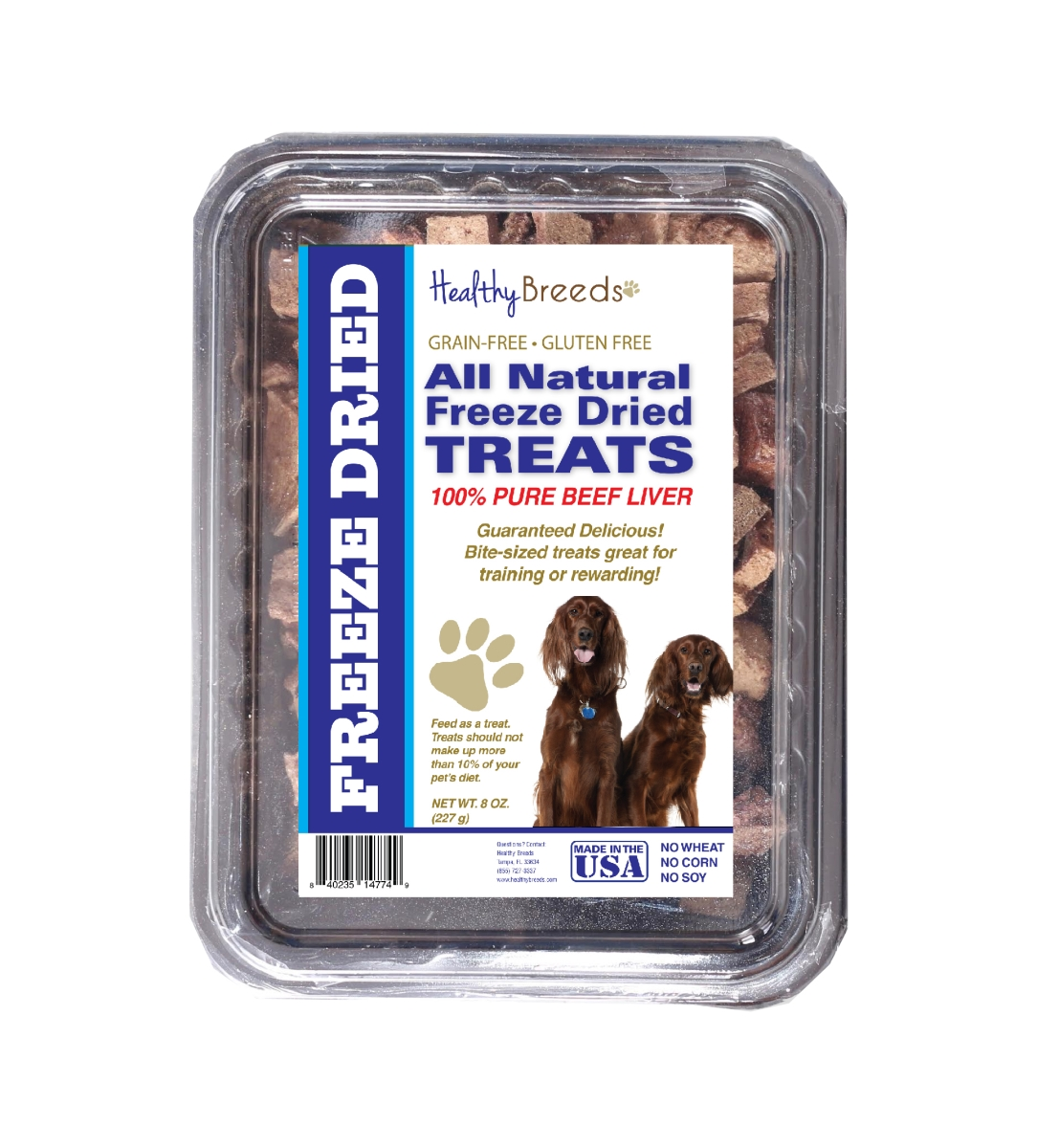 Healthy Breeds 840235147657 10 oz Irish Setter All Natural Freeze Dried Treats Beef Liver