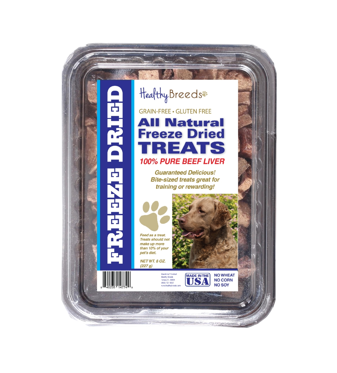 Healthy Breeds 840235147701 10 oz Chesapeake Bay Retriever All Natural Freeze Dried Treats Beef Liver