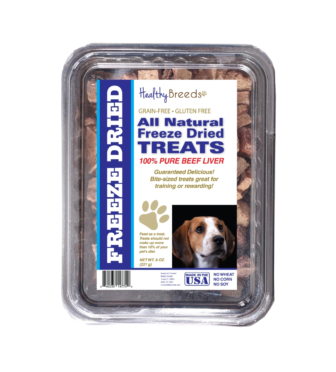 Healthy Breeds 840235147749 10 oz American English Coonhound All Natural Freeze Dried Treats Beef Liver
