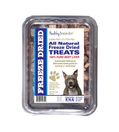 Healthy Breeds 840235147770 10 oz American Staffordshire Terrier All Natural Freeze Dried Treats Beef Liver