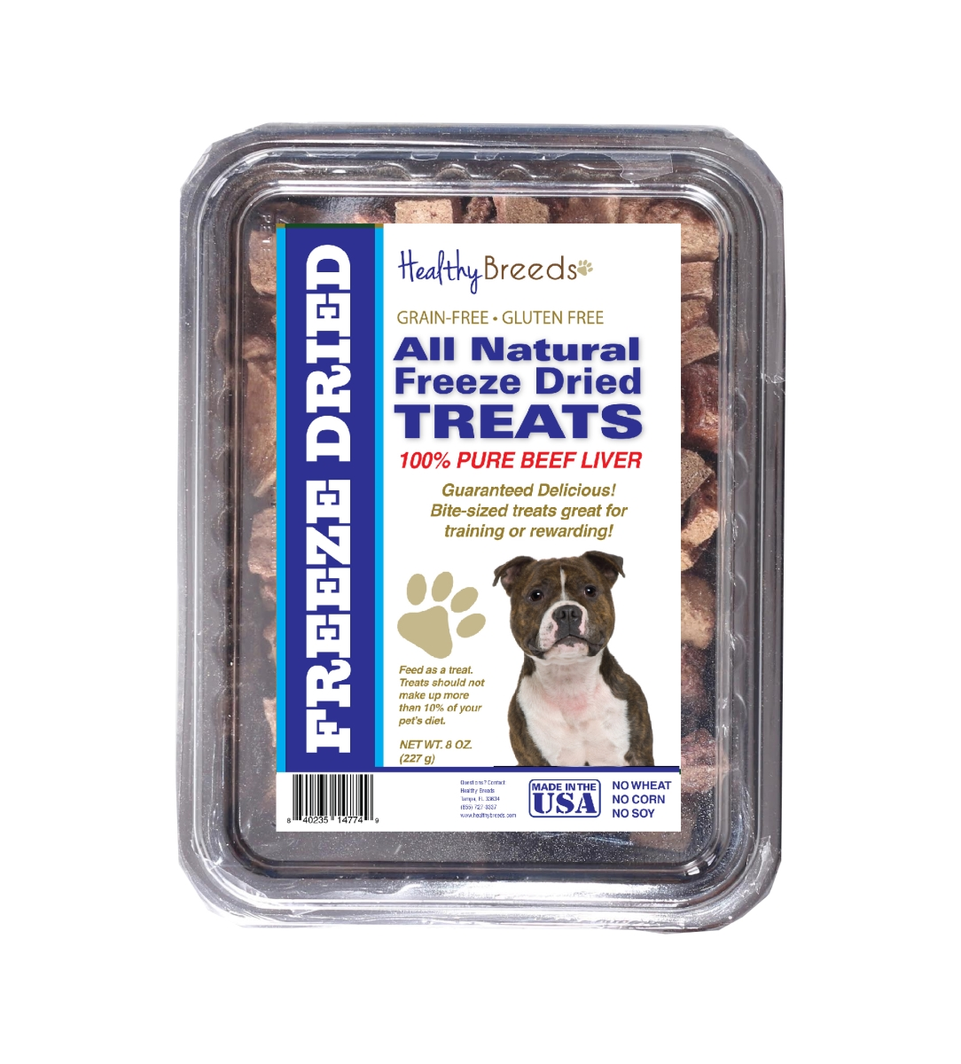 Healthy Breeds 840235147831 10 oz Staffordshire Bull Terrier All Natural Freeze Dried Treats Beef Liver