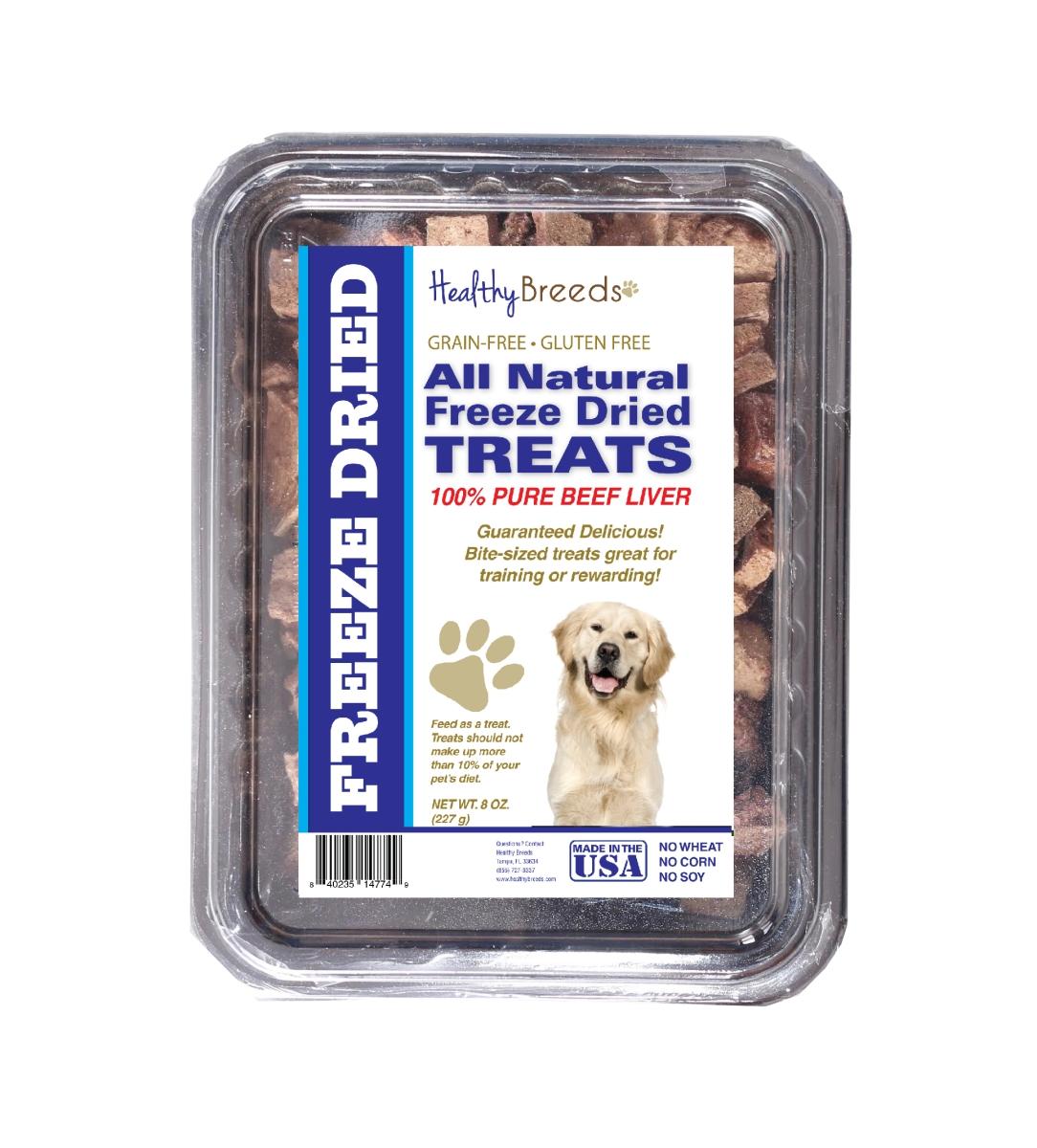 Healthy Breeds 840235147879 10 oz Golden Retriever All Natural Freeze Dried Treats Beef Liver