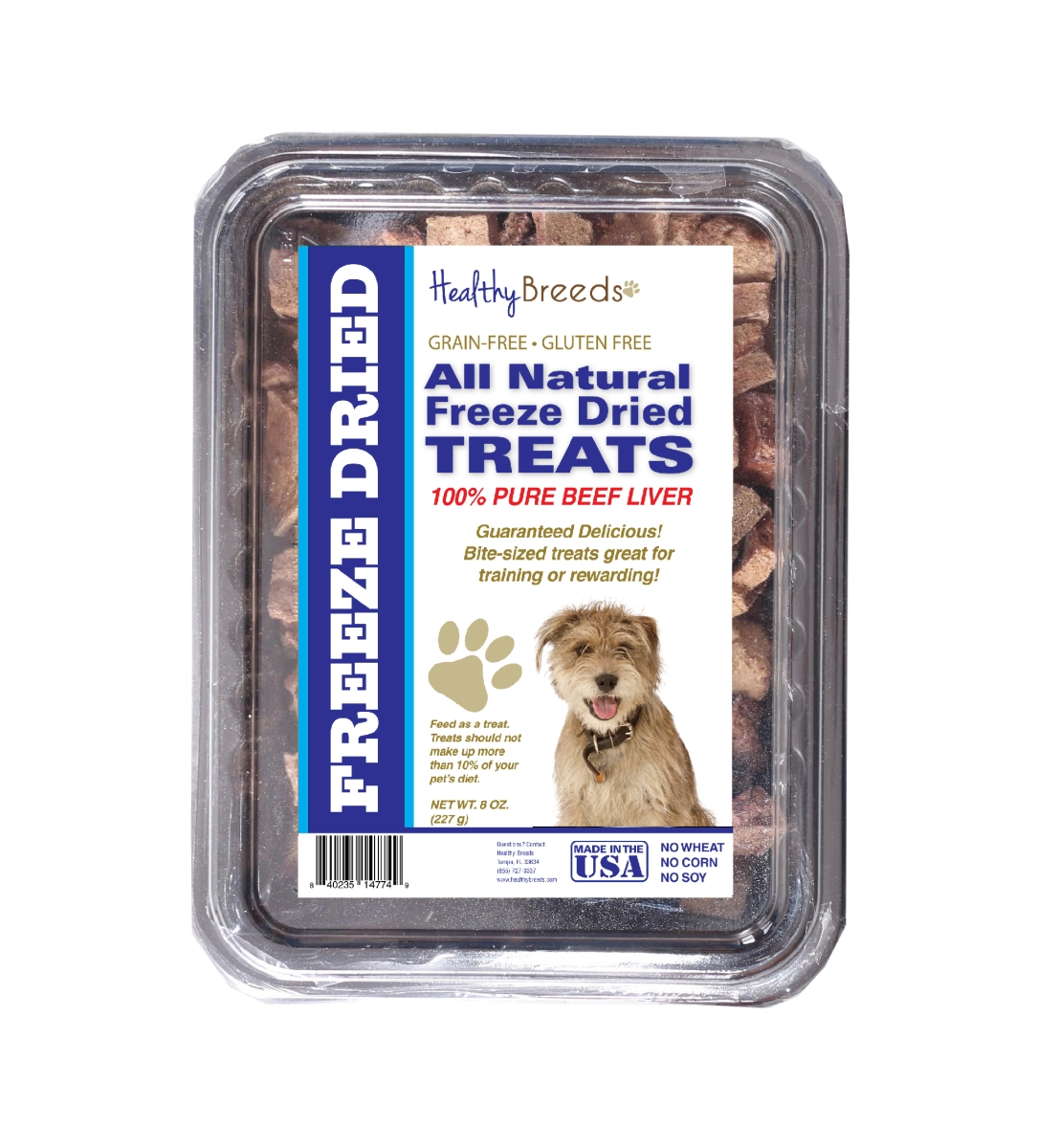 Healthy Breeds 840235147992 10 oz Mutt All Natural Freeze Dried Treats Beef Liver